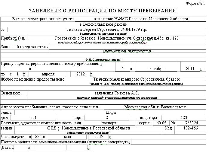 Как оформляется временная регистрация